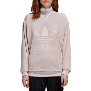 adidas Originals Quarter Zip Velour Pullover